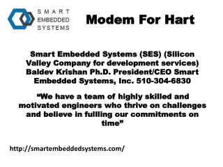 Embedded system design and services- smartembeddedsystems.com- HART STACK for controls- HART modem- Hart hardware System