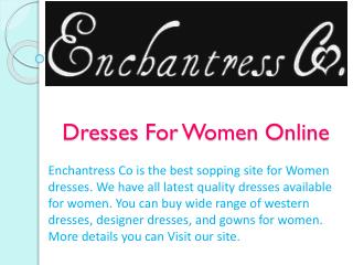 Dresses For Women Online