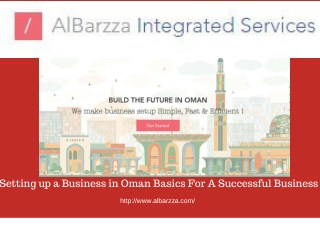 Setting up a Business in Oman Basics For A Successful Business