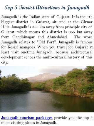 Top 5 Tourist attractions in Junagadh