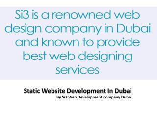 Static Website Development In Dubai