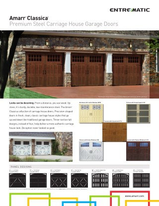 Garage Door Mart Inc - Amarr Classica Collection