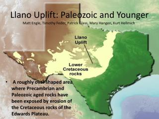 Llano Uplift: Paleozoic and Younger