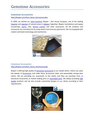 Gemstone Accessories