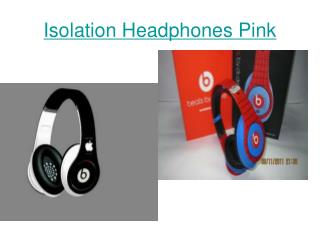 Isolation Headphones Pink