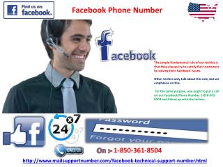 Facebook Phone Number 1-850-361-8504: The cheapest way to fix issues