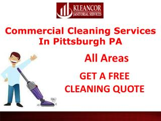 Commercial cleaning services In Pittsburgh PA