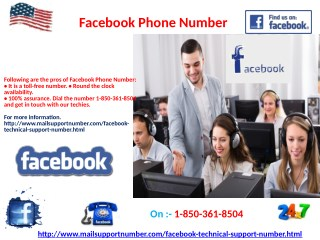 Does Facebook Phone Number 1-850-361-8504  take zero call charges