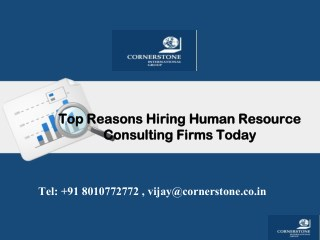 Top Reasons Hiring Human Resource Consulting Firms Today