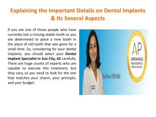Dental Implant Specialist in Peoria, AZ