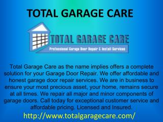 Best Garage Door Repair Centers in Atlanta | Total Garage Care