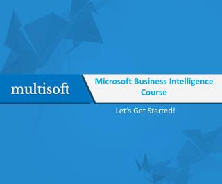 Microsoft Business Intelligence Course