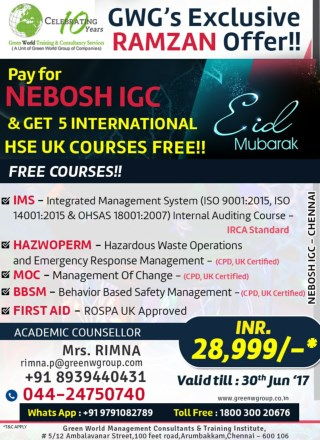 NEBOSH IGC course training in Chennai