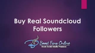 Buy Real Soundcloud Followers