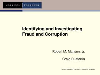 Identifying and Investigating Fraud and Corruption