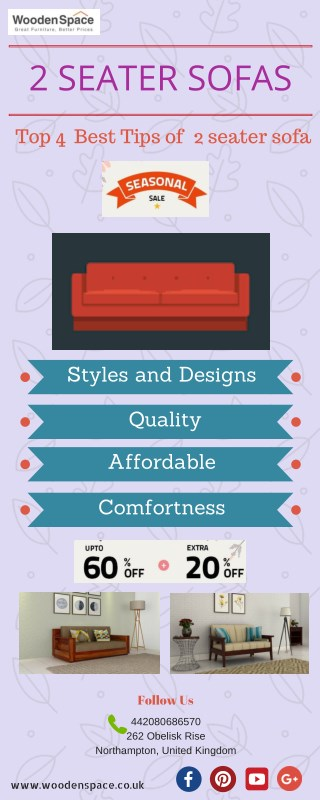 4 Best Tips To Buy 2 Seater Sofa at 60% OFF From Wooden Space