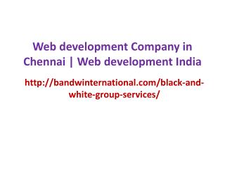 Web development Company in Chennai | Web development India
