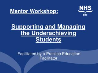 Mentor Workshop:
