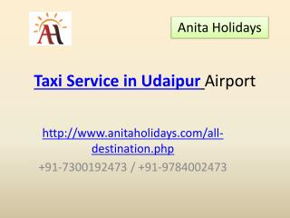 Taxi Service in Udaipur Airport