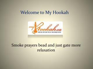 Hookah Hoses and prayers bead by www.myhookah.ca