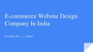E-commerce website design company in India