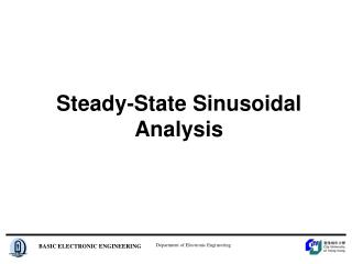 Steady-State Sinusoidal Analysis