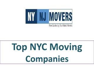 Top NYC Moving Companies