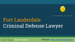 Fort Lauderdale Criminal Defense Lawyer