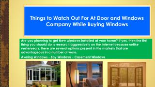 Things to Watch Out For At Door and Windows Company While Buying Windows