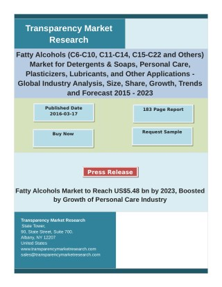 Fatty Alcohols Market By Analysis of Major Industry Segments, Growth, Share 2023