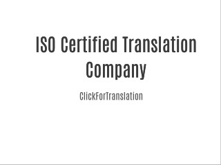 ISO certified translation service company