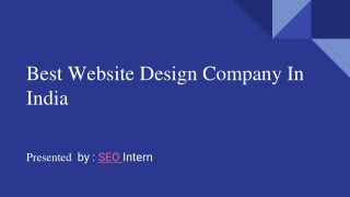 Best  Website Design Company In India.