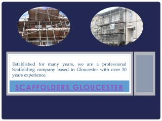 Scaffold Erectors Gloucester