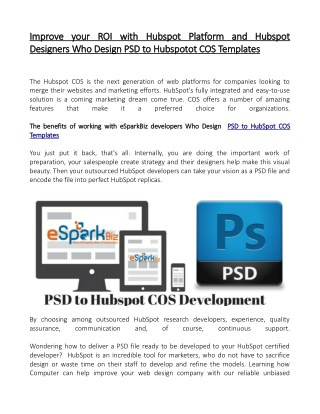 Looking for Implementing PSD to Hubspot COS Development....?