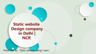 Static Website design company in Delhi | NCR