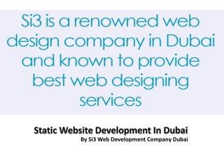 Static Website Development In Dubai