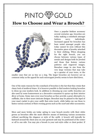 How to Choose and Wear a Brooch?