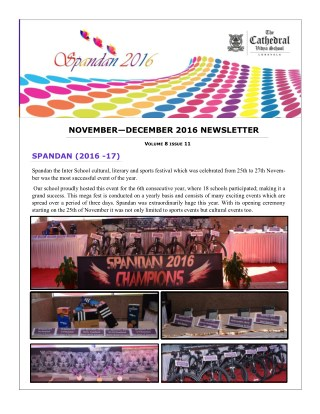 Cathedral Vidya School Newsletter - Cathedral School Mumbai