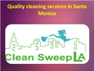 The Professional cleaning services in Hollywood