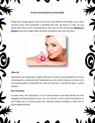ow to Get Wonderful Glowing Skin with Perfect Diet