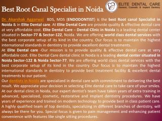 Best Dentist in Noida | Dr Akarshak Aggarwal | Elite Dental Care