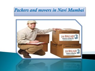 Make Home Relocation Easier with packers and movers Navi Mumbai