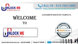 Find Out Best Locksmith Services in Tampa FL With Unlock Me and Services