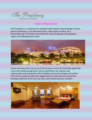 Hotels in Bhubaneswar
