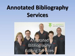 Annotated Bibliography Services