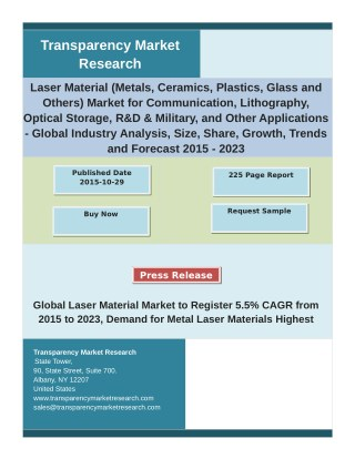 Laser Material Market An insight on the important factors and trends influencing the market 2023