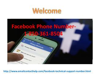 Can I take reliable help via Facebook Phone number 1-850-361-8504 ?