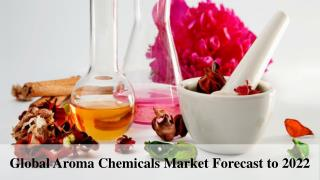 Global Aroma Chemicals Market Forecast to 2022