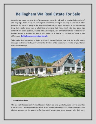 bellingham wa real estate for sale