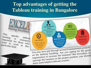 Top advantages of getting the Tableau training in Bangalore